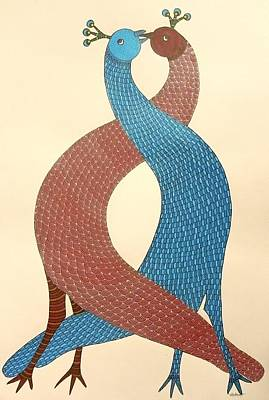 Gond Painting - Ds 543 by Dilip Shyam