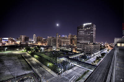 Art Print featuring the photograph Dte In Detroit by Nicholas  Grunas