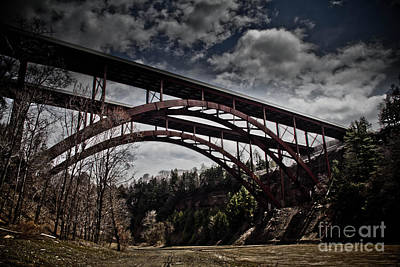 Art Print featuring the photograph Dual Arched Bridge by Jim Lepard