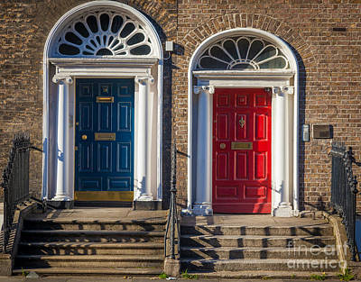 Entryway Photograph - Dual Doors by Inge Johnsson