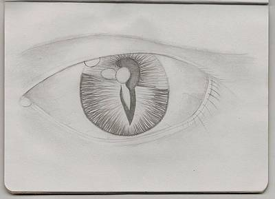 Tears Drawing - Dual Internal Self by London Olson