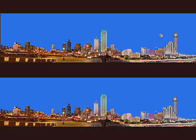 Photograph - Dual Skylines Of Dallas by Jim Martin