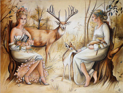 Depicting Painting - Duality Of The Matriarch by Jacque Hudson