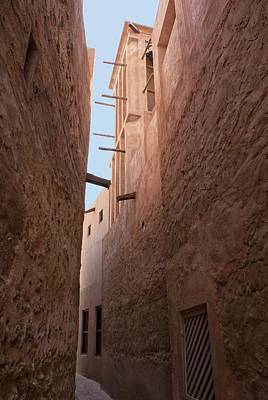 Dubai Alley With Wind Tower. Art Print by Mark Williamson