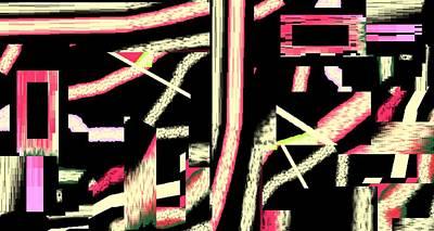 Art Print featuring the digital art Dubai By Night by Cletis Stump