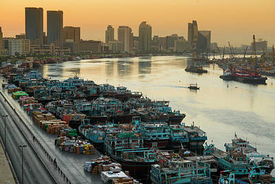 Dubai Creek Art Print by © Naufal Mq