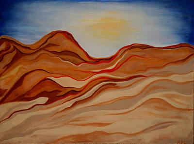 Dubai Desert Art Print by Kathy Peltomaa Lewis