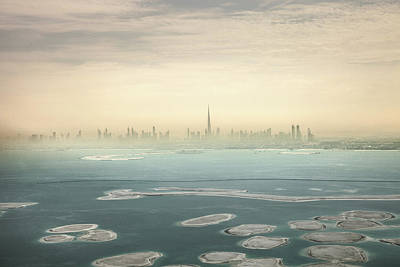 Dubai Downtown Skyscrapers And Office Art Print by Leopatrizi