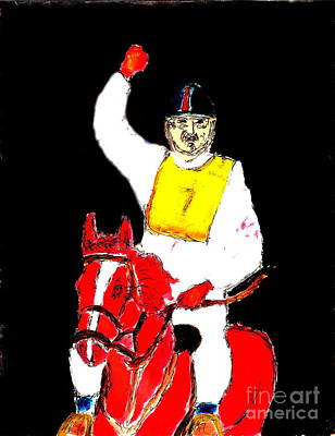 Painting - Dubai Endurance Race Honoring Sheik As Winner 1 by Richard W Linford