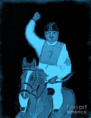 Painting - Dubai Endurance Race Honoring Sheik As Winner 3 by Richard W Linford