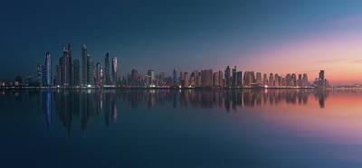 Skyscrapers Wall Art - Photograph - Dubai Marina Skyline by Javier De La