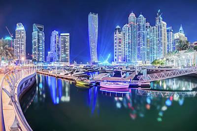 Standing Photograph - Dubai Marina by Thomas Kurmeier