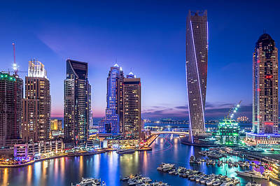 Boat Harbour Wall Art - Photograph - Dubai Marina by Vinaya Mohan
