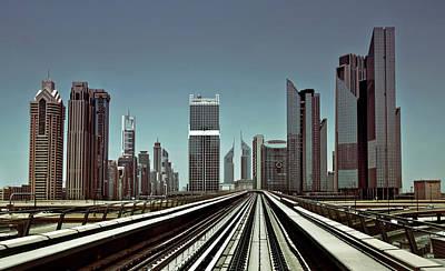 Perspective Wall Art - Photograph - Dubai Metro by Naufal