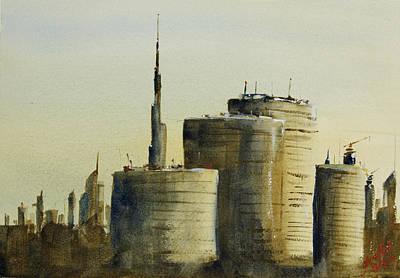 Burj Painting - Dubai - Near Dafza by James Nyika
