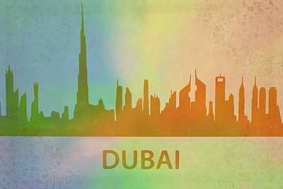 Skyscraper Mixed Media - Dubai Skyline by Dan Sproul