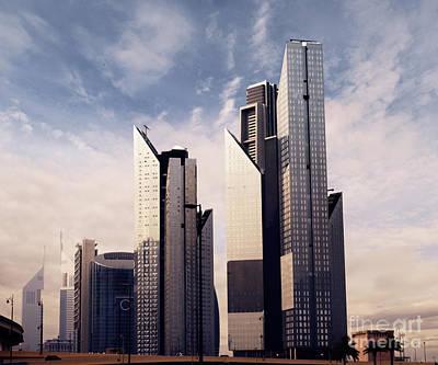 Dubai Skyline Art Print by Jelena Jovanovic