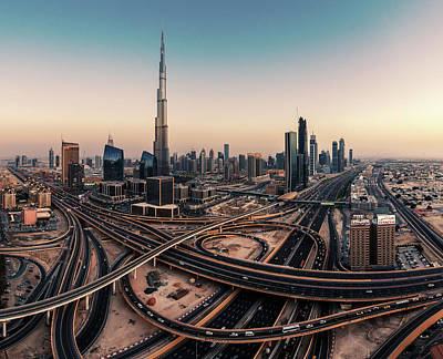 Dubai Skyline Panorama Art Print