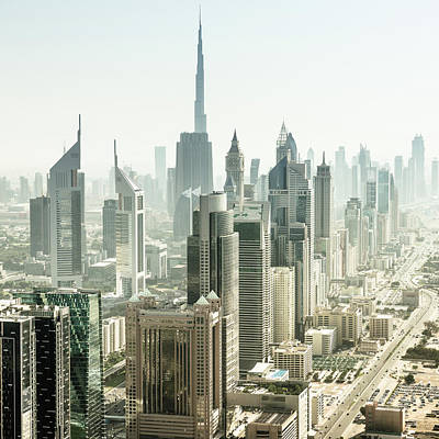 Photograph - Dubai Skyline With Downtown by Franckreporter