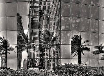 Dubai Street Reflections Art Print