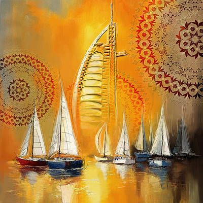 Dubai Painting - Dubai Symbolism by Corporate Art Task Force