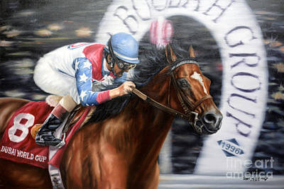 Kentucky Derby Painting - Dubai World Cup Classic by Thomas Allen Pauly