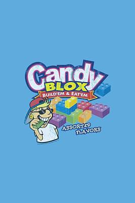Candy Digital Art - Dubble Bubble - Candy Blox by Brand A