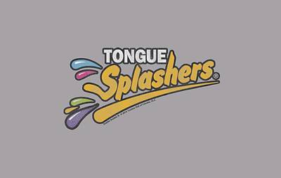 Candy Digital Art - Dubble Bubble - Tongue Splashers Logo by Brand A