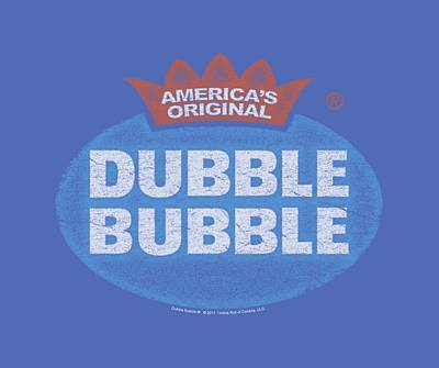 Candy Digital Art - Dubble Bubble - Vintage Logo by Brand A