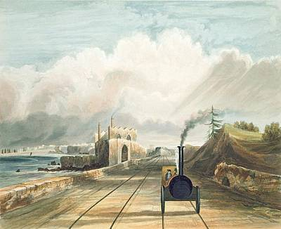 Coastal Landscape Drawing - Dublin And Kingstown Railway From by Andrew Nicholl
