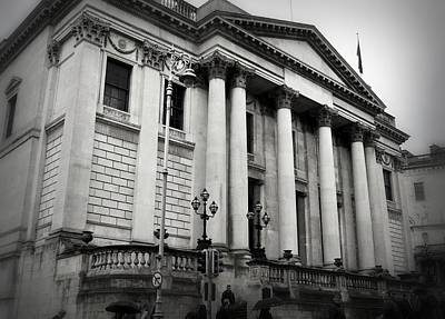 Photograph - Dublin City Hall In Black And White by Nadalyn Larsen