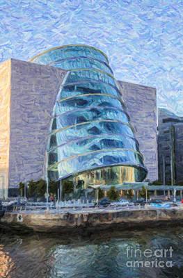 Modern Architecture Digital Art - Dublin Convention Centre Republic Of Ireland by Liz Leyden