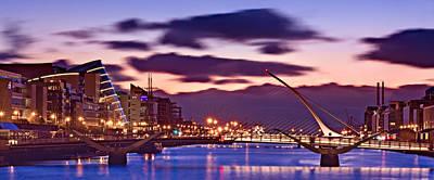Photograph - Dublin Docklands At Dawn / Dublin by Barry O Carroll