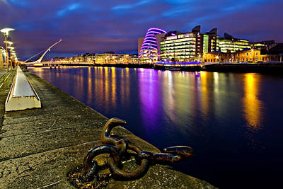 Photograph - Dublin Docklands At Night / Dublin by Barry O Carroll