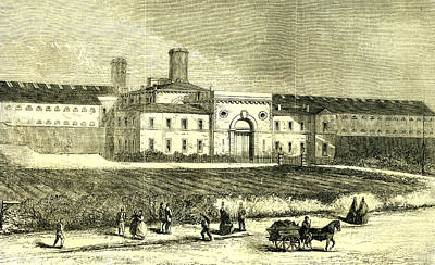 Indoor Drawing - Dublin Ireland 1866 Mountjoy Prison by Irish School