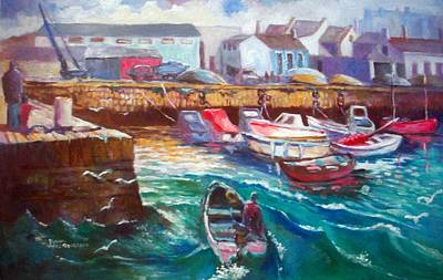 Art Print featuring the painting Dublin Ireland Bullock Harbour by Paul Weerasekera