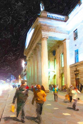 Photograph - Dublin Ireland Post Office At Night by Mark E Tisdale