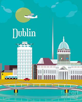 Dublin Digital Art - Dublin by Karen Young