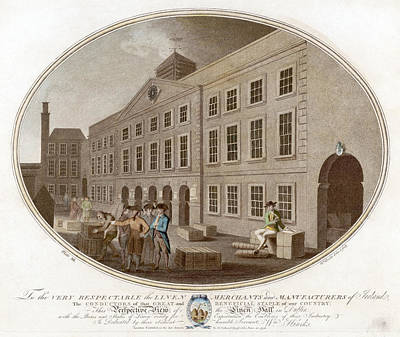 Bales Painting - Dublin Linen Hall, 1791 by Granger