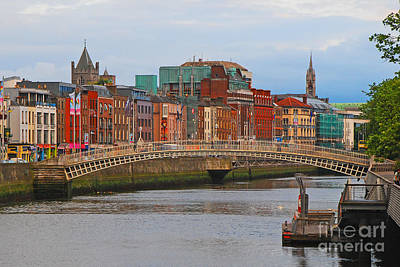 Dublin On The River Liffey Art Print