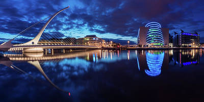 Dublin Wall Art - Photograph - Dublin - Samuel Beckett Bridge by Jean Claude Castor