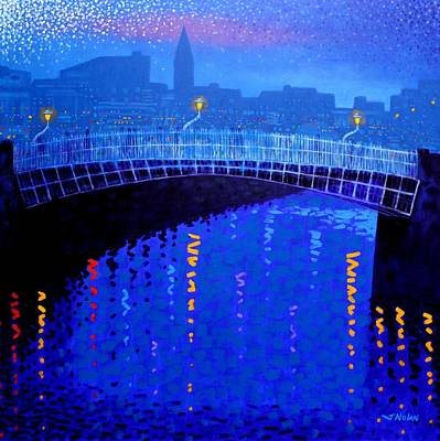 Irish Painting - Dublin Starry Nights by John  Nolan