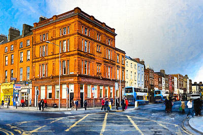 Photograph - Dublin Street Corner In Winter by Mark E Tisdale