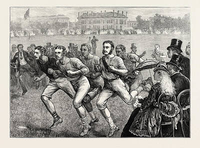 Athletic Drawing - Dublin University Athletic Club Sports In College Park by Irish School