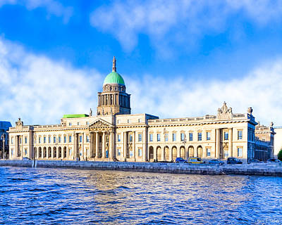 Photograph - Dublin's Custom House Quay by Mark E Tisdale