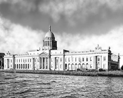 Photograph - Dublin's Neoclassical Custom House On The River by Mark E Tisdale