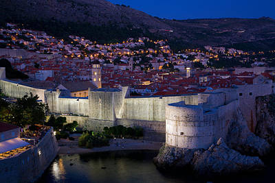 Photograph - Dubrovnik At Night by Alexey Stiop