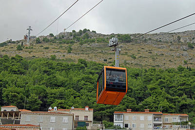 Photograph - Dubrovnik Cable Car by Tony Murtagh