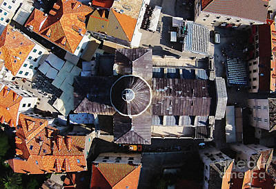 Limited Edition Mixed Media - Dubrovnik Cathedral Stunning Aerial by Aston Pershing