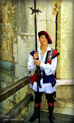 Fantasy Royalty-Free and Rights-Managed Images - Dubrovnik Guard by Joan  Minchak